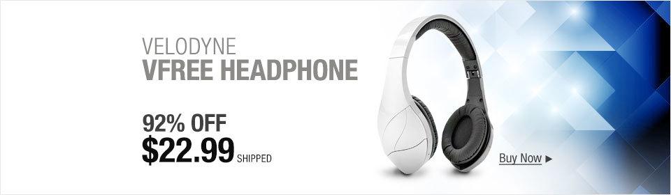 Velodyne vFree Wireless Bluetooth Headphones (Silver)