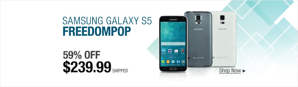 Refurbished Samsung Galaxy S5 with FreedomPop campaign