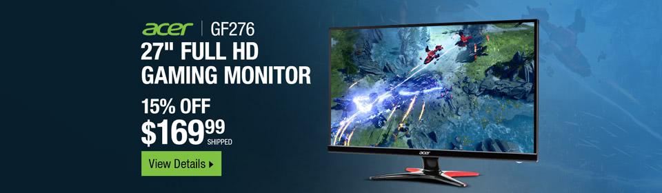 "Acer GF276 Abmipx Black 27"""