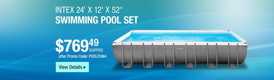 """Intex 24' x 12' x 52"""" Swimming Pool"""
