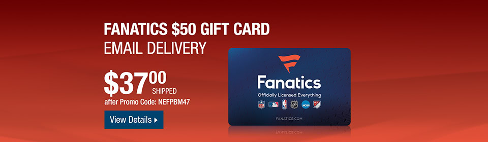 Fanatics $50 Gift Card (Email Delivery)