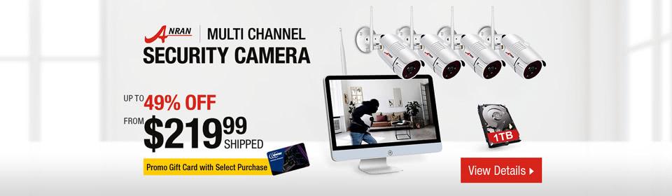 Anran Multi Channel Security Camera Campaign