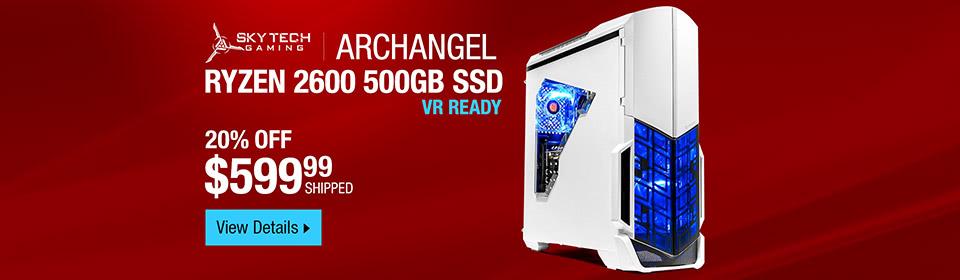 SkyTech Archangel VR Ready Gaming Computer Desktop