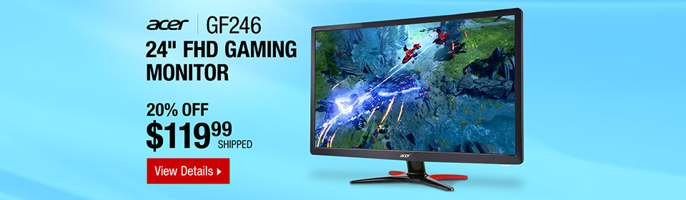 """Acer GF246 bmipx Black 24"""" Full HD Gaming Monitor"""