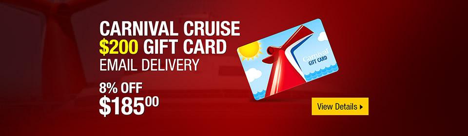 Carnival Cruise $200 Gift Card