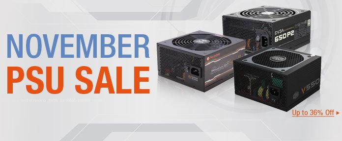 November PSU sale up to 36% off