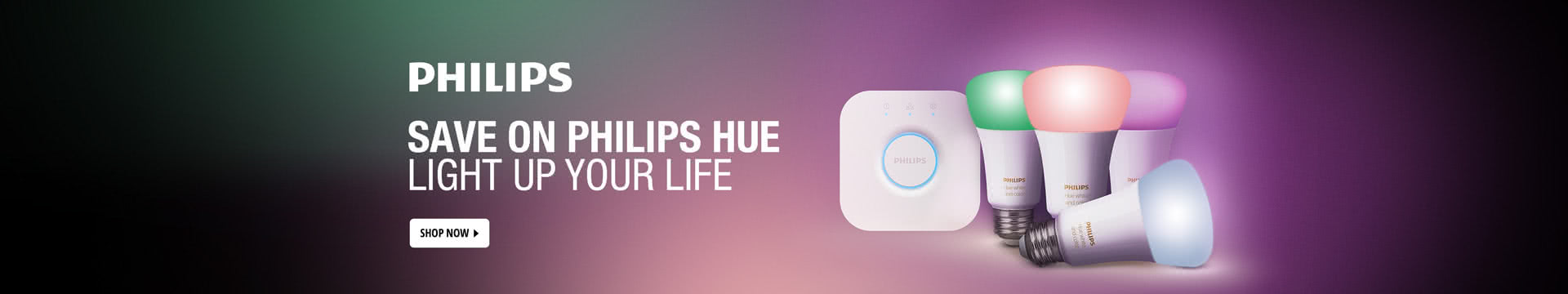 Save on Philips Hue Light Up Your Life