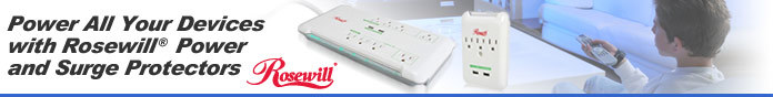 Power All Your Devices with Rosewill® Power and Surge Protectors