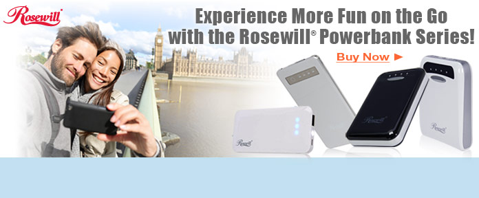 Experience More Fun on the Go with the Rosewill® Powerbank Series!