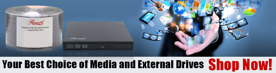 Your Best Choice of Media and External Drives