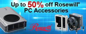 Up to 50% off Rosewill PC Accessories