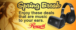 Spring Break. Enjoy these deals that are music to your ears.