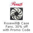 Rosewill Case Fan-30% off with promo code