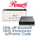 20% Off Select Rosewill HDD Enclosures