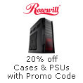 20% off  select Cases & PSUs with promo code