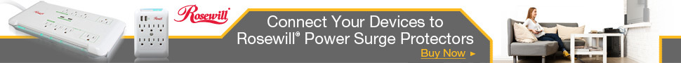 Connect Your Devices to Rosewill® Power Surge Protectors