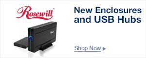 New Arrivals HDD Enclosures and USB Hubs