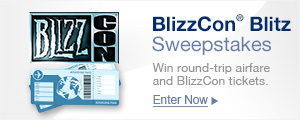Win round-trip airfare and BlizzCon tickets.