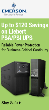 Up to $120 savings on Liebert PSA/PSI UPS
