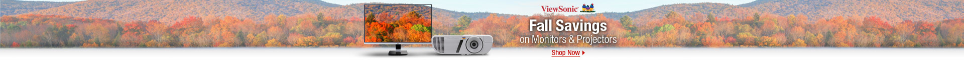 Fall savings on Monitors & Projectors