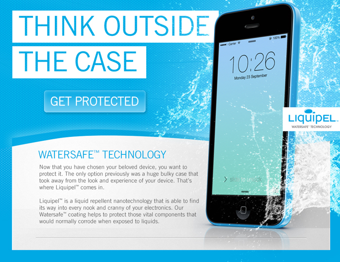 Think Outside the Case - Get Protected - Liquidpel