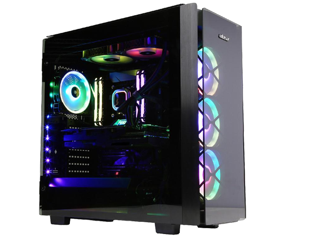 ABS iCUE Crystal C - Intel i9-9900K - Strix GeForce RTX 2080 Ti - 32GB DDR4 3200MHz - 2TB NVMe SSD - Liquid Cooling (240mm) - Gaming Desktop PC - Black