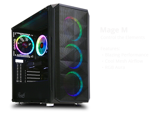 ABS Mage M - Ryzen 7 2700 - GeForce RTX 2060 - 16GB DDR4 - 512GB SSD - 1TB HDD - Gaming Desktop PC