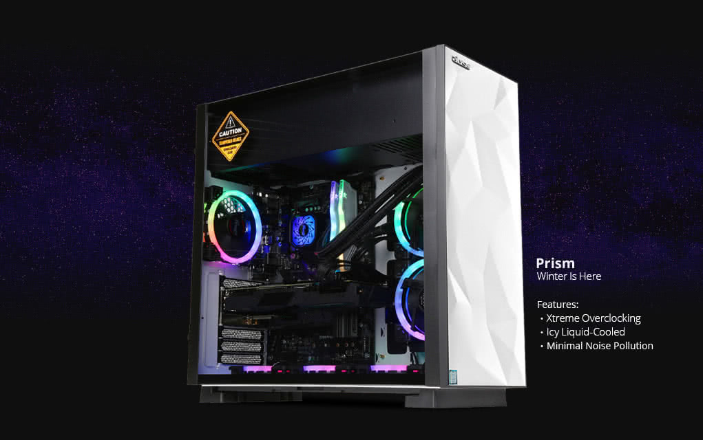 ABS Prism S - Intel i7-9700K - GeForce RTX 2070 - 16GB DDR4 - 1TB SSD - Liquid Cooling (240mm) - Gaming Desktop PC - White