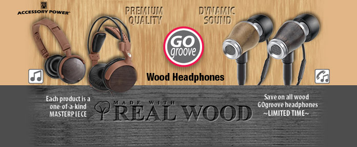 Go Groove Wood Headphones