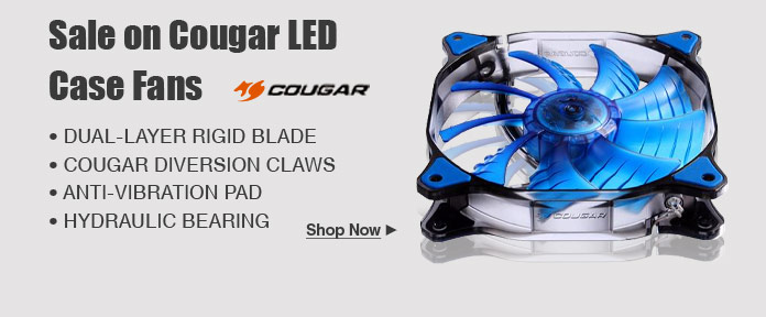 Sale on Cougar LED Case Fans
