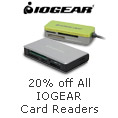 20% Off All IOGEAR Card Readers