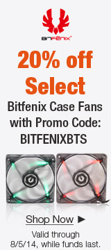 20% off Bitfenix case fans with promo code