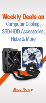 Weekly Deals on Computer Cooling, SSD/HDD Accessories, Hubs & More