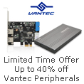 Up to 40% off Vantec Peripherals