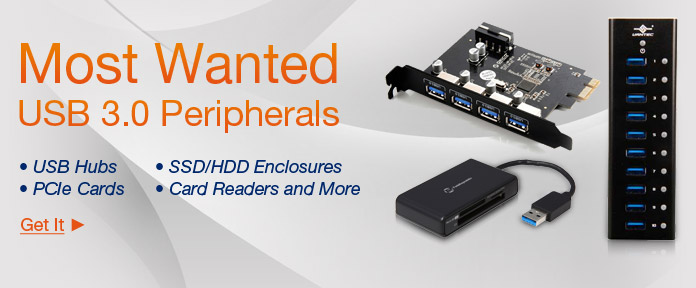 Most Wanted USB 3.0 Peripherals
