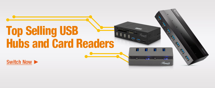 Top selling USB hubs and card readers