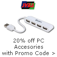 20% off PC accessories with promo code