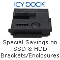 Special savings on SSD & HDD brackets/enclosures