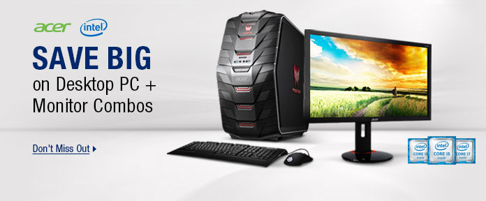 Save Big on Desktop PC + Monitor Combos