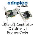 15% Off Select Adaptec Controller Cards with Promo Code