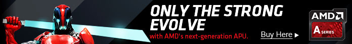 ONLY THE STRONG EVOLVE with AMD's next-generation APU