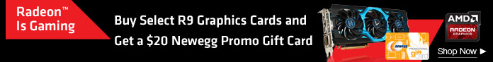 Buy Select R9 Graphics Card, Get Newegg Gift Card