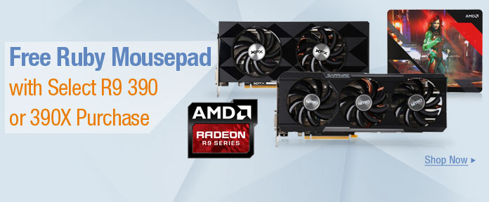 Free Ruby Mousepad with R9 390 or 390X Purchase