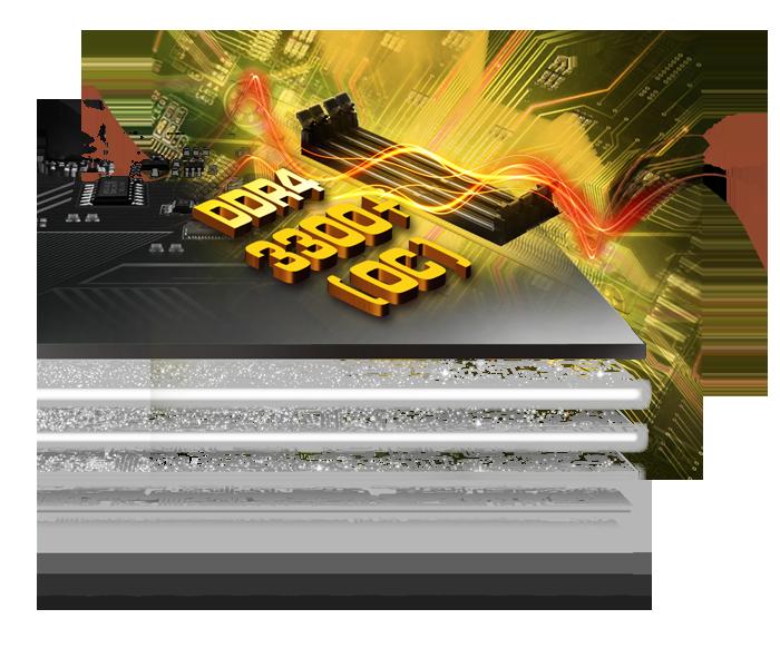 Image result for X99 Taichi 8 Layer PCB (4 x 2oz Copper) & DDR4 3300+(OC)