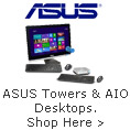 ASUS towers & AIO desktops, shop now
