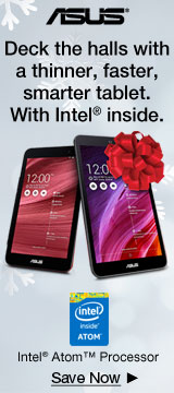 Deck the halls with a thinner, faster, smarter tablet. With Intel® inside