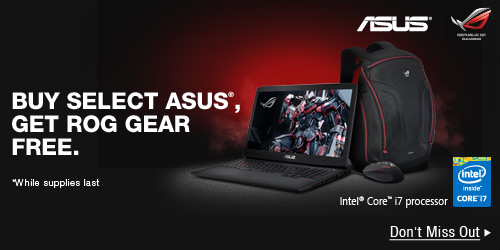 BUY SELECT ASUS, GET ROG GEAR FREE