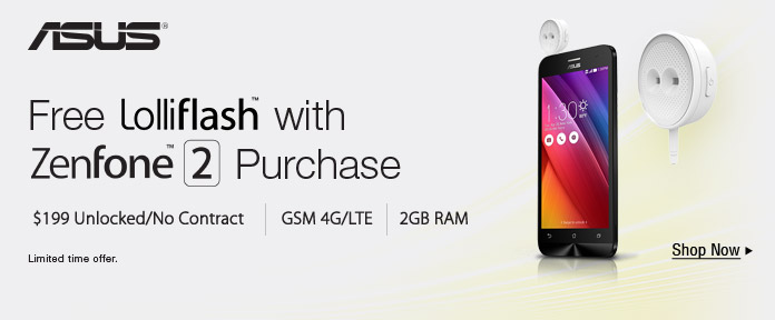 Free Loliflash with Zenfone 2 purchase