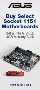 ASUS: Buy Select Socket 1151 Motherboards, Get a Free G.SKILL 4GB Memory Stlck