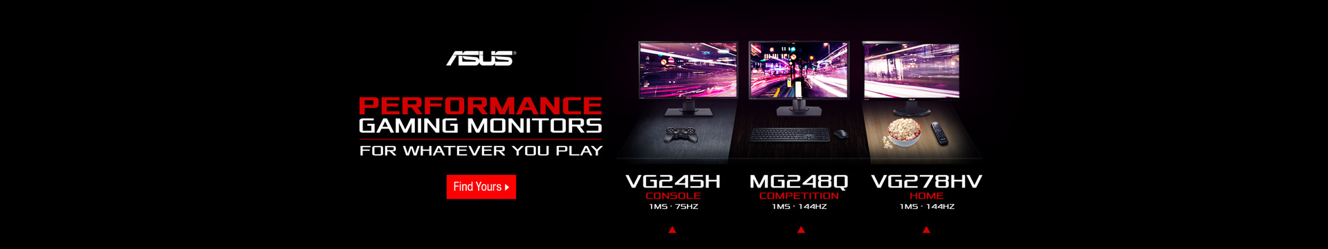 Performance gaming monitors